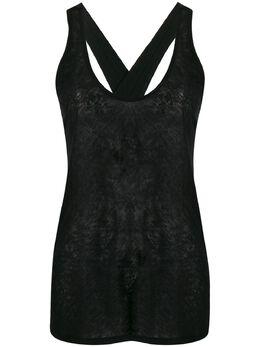 Forte_Forte crisscross back textured vest top 7326MYTSHIRT