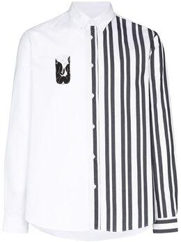Kenzo Striped mermaid print shirt FA55CH4141LB