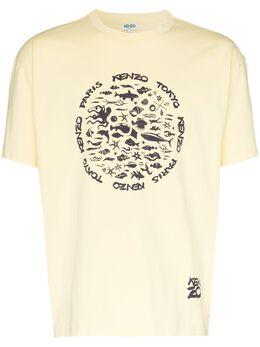Kenzo Sea logo-print T-shirt FA55TS0434SE