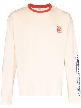 Kenzo Ocean Club logo-print T-shirt FA55TS1874SI