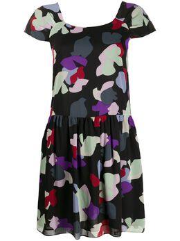 Emporio Armani платье мини с цветочным принтом 3H2A852NXUZ