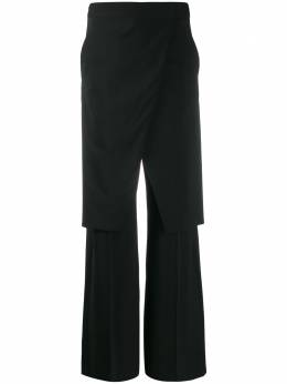 Mm6 Maison Margiela многослойные брюки прямого кроя S52KA0245S52209