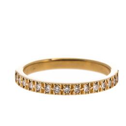Tiffany & Co. Diamond 18k Yellow Gold Half Eternity Ring Size 50 280300