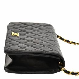 Chanel Black Quilted Leather Classic Flap Bag