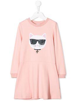 Karl Lagerfeld Kids платье с принтом Z12122