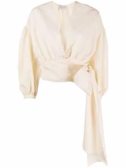 Forte_Forte укороченная блузка с запахом 7228MYJACKET