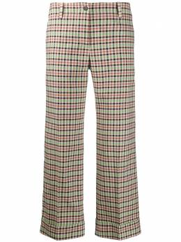 Alberto Biani клетчатые брюки со складками CC832VI2016