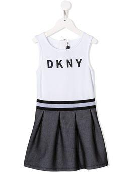 DKNY Kids платье с логотипом D32744M41