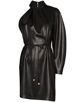 Nanushka платье Ida из искусственной кожи на одно плечо WDR00199