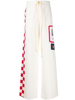 Lanvin брюки широкого кроя с геометричным принтом RMTR00194475P20