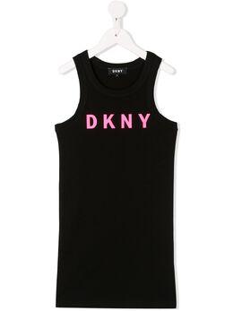 DKNY Kids платье без рукавов с логотипом D3273409B