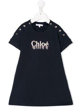 Chloe Kids платье-рубашка с логотипом C12767849