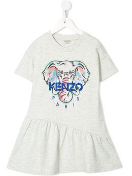 Kenzo Kids платье с принтом и логотипом KQ30118