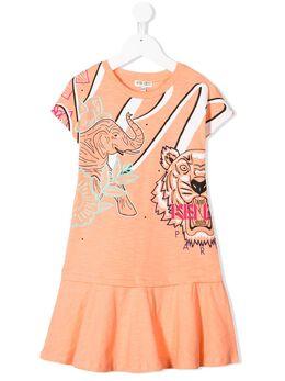 Kenzo Kids платье с принтом KQ30128
