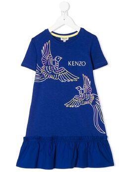 Kenzo Kids платье-футболка с логотипом KQ30078