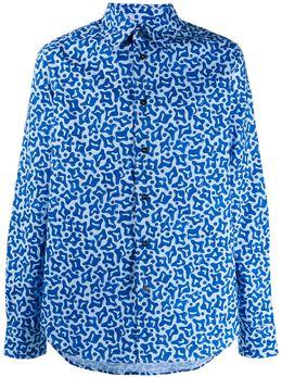 Marni рубашка с принтом CUMU0024A0S52589