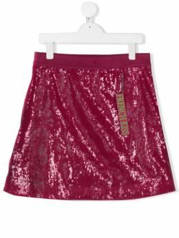 Alberta Ferretti Kids юбка French Kiss с пайетками 022168