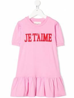 Alberta Ferretti Kids платье миди Je t'aime 022157