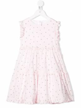 Il Gufo платье с принтом и оборками P20VA262C4054