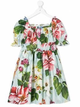 Dolce & Gabbana Kids платье с цветочным принтом L52DE5HS5GB