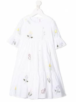 Il Gufo платье с оборками и вышивкой P20VM544C0050
