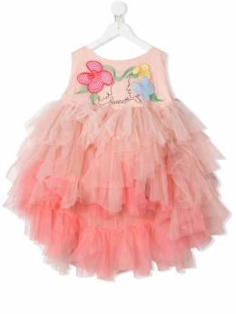 Raspberry Plum платье Olia с вышивкой D5PSS20