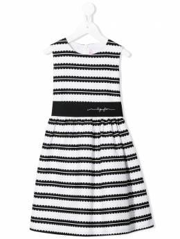 Il Gufo жаккардовое платье в полоску P20VA260C5042