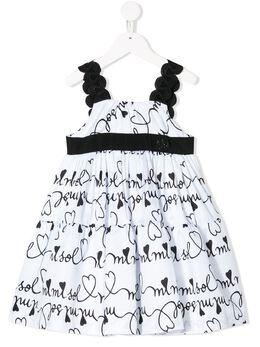 Mi Mi Sol платье с логотипом MFAB104TS0265