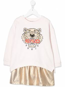 Kenzo Kids платье-толстовка со вставками KQ30238