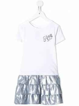Kenzo Kids платье в стиле колор-блок с логотипом KQ30148