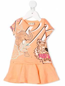 Kenzo Kids платье с принтом Tiger KQ30128BB30
