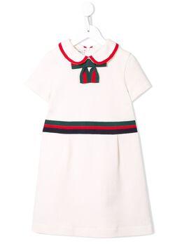 Gucci Kids платье с бантом 518555X9W98