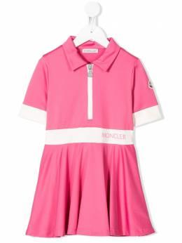 Moncler Enfant платье-поло с короткими рукавами 8I71310829E4