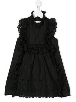Alberta Ferretti Kids платье с оборками и вышивкой 024241
