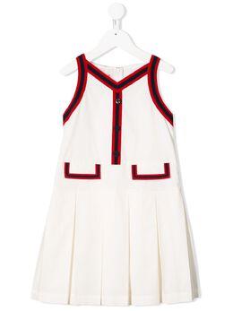 Gucci Kids платье со складками 595341ZB365