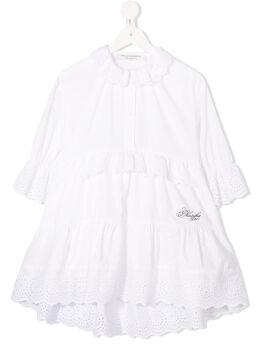Philosophy Di Lorenzo Serafini Kids платье с оборками и перфорацией PJAB73CA244