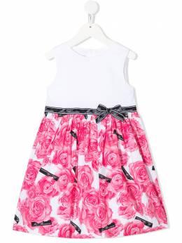 Miss Blumarine платье без рукавов с цветочным принтом MBL2444