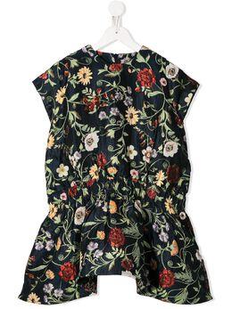 Oscar De La Renta Kids платье с цветочным принтом 20SGN612MX0