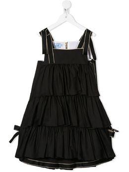 Mi Mi Sol ярусное платье с контрастной отделкой MFAB062TS0176