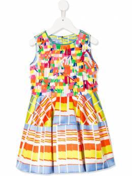 Mi Mi Sol атласное платье с аппликацией MFAB112TS0254