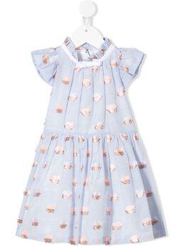Hucklebones London платье-боди с оборками SS20601