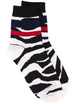 Sacai носки с зебровым принтом 200065S
