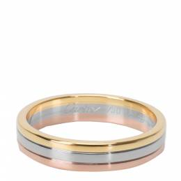 Cartier 18K Tri Colored Trinity Wedding Band Ring Size 64 279462