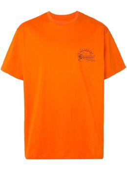 Wooyoungmi футболка с вышивкой Paradise W201TS05ORANGE