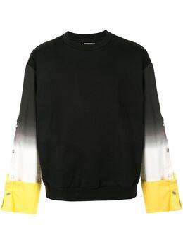 Wooyoungmi джинсовый джемпер с принтом тай-дай W201TS24BLACK