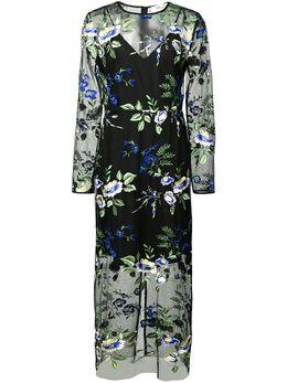Dvf Diane Von Furstenberg полупрозрачное платье с цветочным принтом 12104DVF