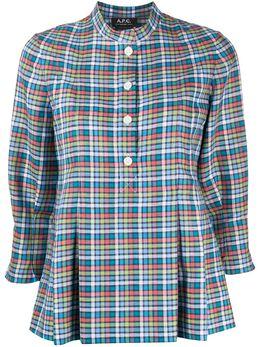 A.P.C. блузка в клетку с баской LIADYF13317
