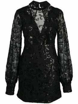 Alexis декорированное платье мини Franciska A41903255822