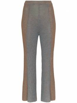 Eckhaus Latta укороченные расклешенные брюки со складками 760ELPS20OCOXIDIZEDCOPPER