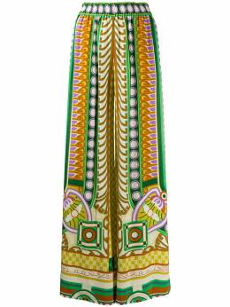 La Doublej брюки широкого кроя с геометричным принтом TRO0026VIS004